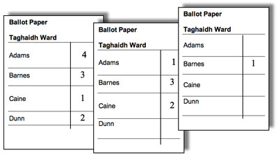 voting slips template - single transferable vote explained moray council