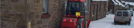 Roads winter maintenance pavement clearing