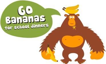 Go bananas for school dinners logo