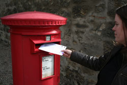 Posting the completed postal vote